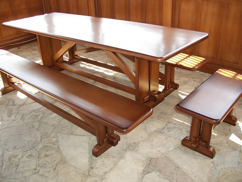 Обеденный стол и лавочка своими руками 515